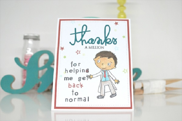 Thank you card from pediatric patient L.K.T and family